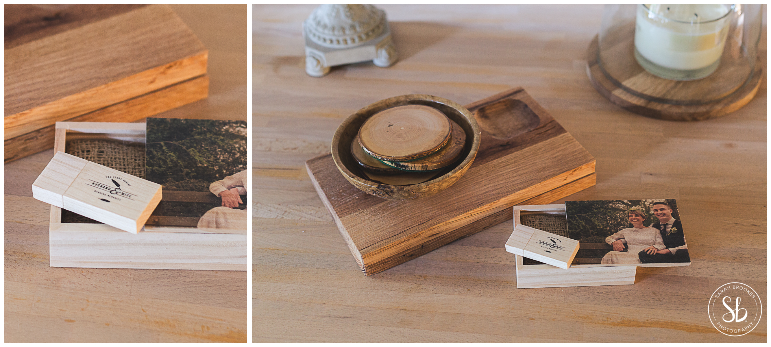 Wedding Wooden USB Package